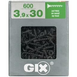 SPAX Grobgewindeschraube, 3,9 mm, Stahl, 600 Stk., GIX B 3,9x30 XL