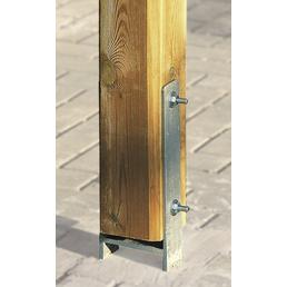 WEKA H-Pfostenanker-Set für Gartenhäuser, BxT: 9 x 9 cm, Metall