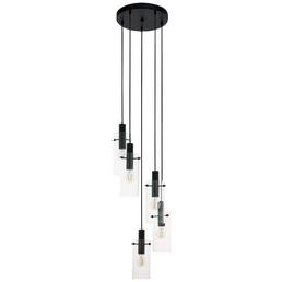 EGLO Hängeleuchte »MONTEFINO« schwarz/transparent, 60 W, E27, ohne Leuchtmittel
