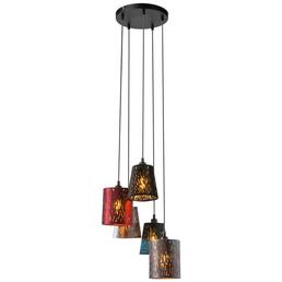 Hängeleuchte »TICON« schwarz 25 W, 5-flammig, E14, ohne Leuchtmittel