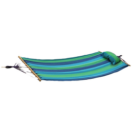Hängematte, B x L: 100  x 200  cm, blau/grün