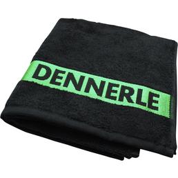 DENNERLE Handtuch, Mit Aufdruck, Baumwolle, Schwarz | Grün, LxB: 60 x 38 cm