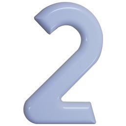 SÜDMETALL Hausnummer, 2, Weiß, Kunststoff, 15,7 x 22,7 x 1,8 cm