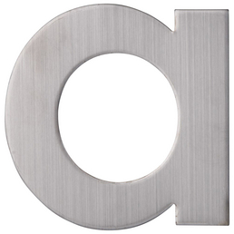 SÜDMETALL Hausnummer, a, Silber, Edelstahl, 11,7 x 17 x 1,8 cm