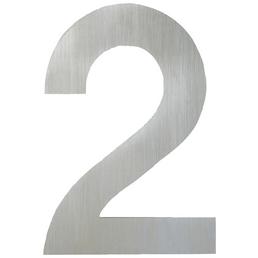 ANSAPRO Hausnummer Nr. 2, silberfarben