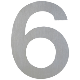 ANSAPRO Hausnummer Nr. 6, silberfarben
