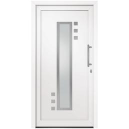 RORO Haustür »R104 Basic«, Kunststoff, weiß