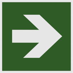 "METAFRANC Hinweisschild, ""Pfeil gerade"", BxH: 15 x 15 cm"
