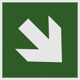 "METAFRANC Hinweisschild, ""Pfeil schräg"", BxH: 15,1 x 15,1 cm"
