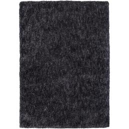 b.b home passion Hochflor-Teppich »BB«, BxL: 140 x 200 cm, lavagrau