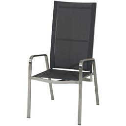 ploß® Hochlehner »Jersey«, BxHxT: 56 x 112 x 78 cm, Edelstahl