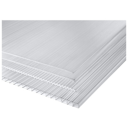 PALRAM Hohlkammerplatte, 980 x 2000 mm, Stärke 4,5 mm, Farblos, Polycarbonat