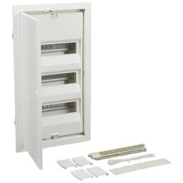 GEWISS Hohlwandverteiler, Weiß, 3-reihig, 34 x 59 x 10,5 cm