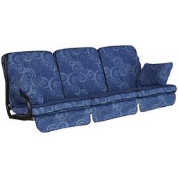 ANGERER FREIZEITMÖBEL Hollywoodschaukelauflage »Comfort«, blau, Abstrakt, BxL: 180 x 56 cm