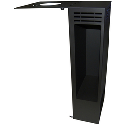 ADURO Holzaufbewahrung, BxHxL: 29 x 101,1 x 41,6 cm, schwarz