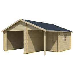 LASITA MAJA Holzgarage »Nevis«, B x T: 500 x 550 cm (Außenmaße ohne Dachüberstand)