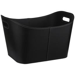 METROX Holzkorb, schwarz, geeignet für Holzscheite, Anzünder und anderes Brenn- und Anzündmaterial