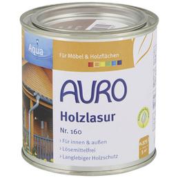 AURO Holzlasur »Aqua«, für innen & außen, 0,38 l, grau, seidenglänzend