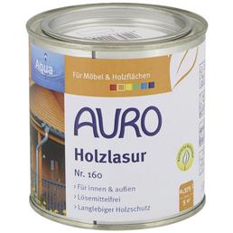 AURO Holzlasur »Aqua«, für innen & außen, 0,38 l, weiß, untergrundabhängig