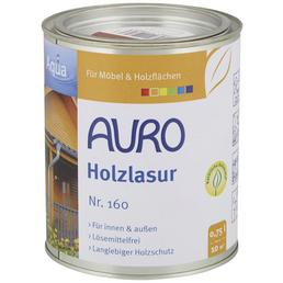 AURO Holzlasur »Aqua«, für innen & außen, 0,75 l, Umbra, untergrundabhängig