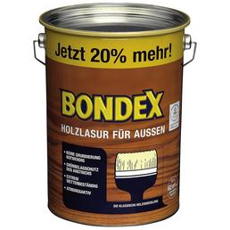 BONDEX Holzlasur, Farbton Eiche hell, für außen, 4,8 l