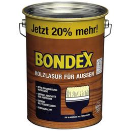 BONDEX Holzlasur, Farbton Teak, für außen, 4,8 l