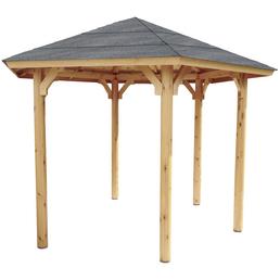 WOLFF Holzpavillon »Kreta 6«, Sechseckdach, sechseckig, BxT: 366 x 257 cm