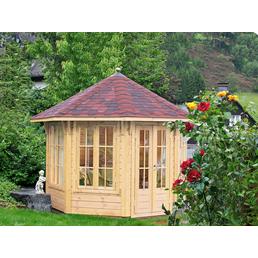 WOLFF Holzpavillon »Milano 3.0«, achteckig, achteckig, BxT: 300,3 x 300,3 cm, inkl. Dacheindeckung
