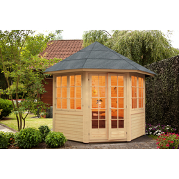 WOLFF Holzpavillon »Palma«, achteckig, achteckig, BxT: 286,8 x 286,8 cm