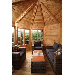 WOLFF Holzpavillon »Palma«, achteckig, B x T: 286,8 x 286,8 cm