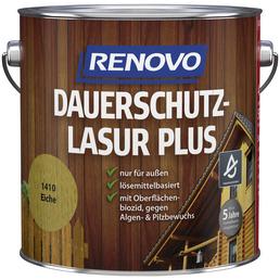 RENOVO Holzschutz-Lasur, für außen, 4 l, Eiche, seidenglänzend