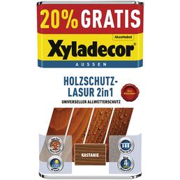 XYLADECOR Holzschutz-Lasur, für außen, 5 l, Kastanie, matt