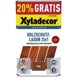 XYLADECOR Holzschutz-Lasur, für außen, 5 l, Teak, matt