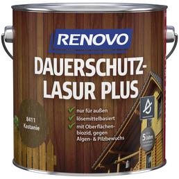 RENOVO Holzschutz-Lasur »PLUS« für außen, 4 l, Kastanie