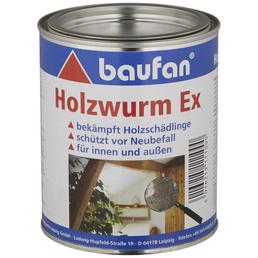 BAUFAN Holzschutzmittel »Holzwurm Ex« für innen & außen, 0,75 l, farblos