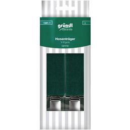 Gründl Hosenträger, tannengrün, Polyester/Elastodien/Stahl