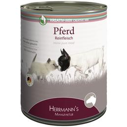 HERMANNS MANUFAKTUR Hunde- & Katzennassfutter »Kreativ-Mix«, Pferd, 6x800 g