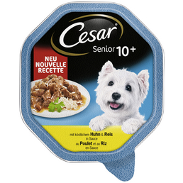 CESAR Hunde Nassfutter »10+«, Huhn / Reis, 14x150 g