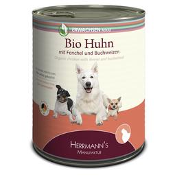 HERMANNS MANUFAKTUR Hunde Nassfutter, Huhn / Fenchel, 6x800 g