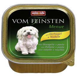 VOM FEINSTEN Hunde-Nassfutter »Menü«, Geflügel/Nudeln, 150 g