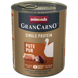 GranCarno® Hunde-Nassfutter »Single Protein«, Pute, 800 g