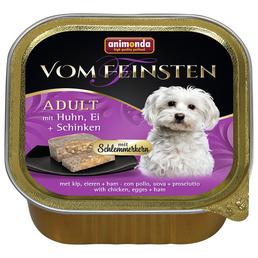 animondo Hunde Nassfutter »Vom Feinsten«, Huhn / Ei / Schinken, 22x150 g
