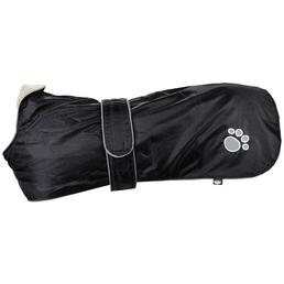 TRIXIE Hundemantel, schwarz, mit verstellbaren Bauchgurt