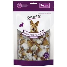 DOKAS Hundesnack »Kaninchen-Fellrolle«, Kaninchen, 8x100 g