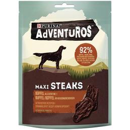 AdVENTuROS™ Hundesnack »Maxi Steaks«, 70 g, Büffel