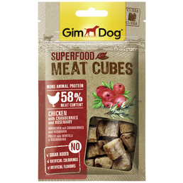 GIMDOG Hundesnack »Meat Cubes«, Huhn  /  Cranberry, 8x40 g