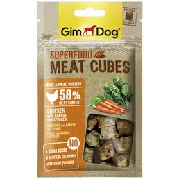 GIMDOG Hundesnack »Meat Cubes«, Huhn  /  Karotte  /  Spinat, 8x40 g