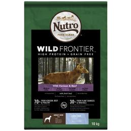 NUTRO Hundetrockenfutter »Wild Frontier«, Hirsch / Rind, 10 kg