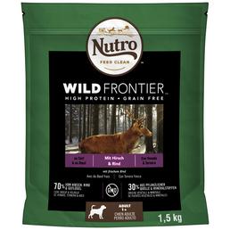 NUTRO Hundetrockenfutter »Wild Frontier«, Hirsch / Rind, 4x1,5 kg