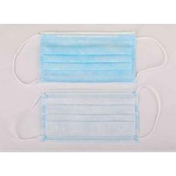 Hygienemaske, Weiß | Blau, Gewebe
